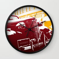 law Wall Clocks featuring The Law by Steel Graphics