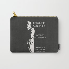 English Society George Du Maurier book cover Carry-All Pouch