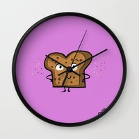 Cinnamon Raisin Toast Wall Clock