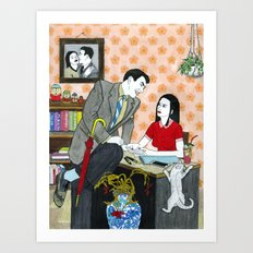 Divorce Papers Art Print
