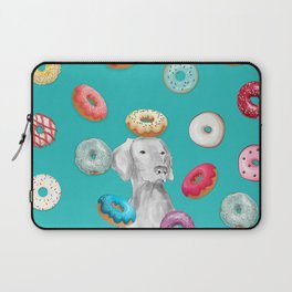 DOG AND DOUGHNUTS Laptop Sleeve