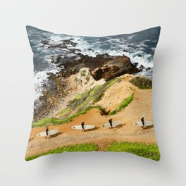 Palos Verdes California Surfer Throw Pillow
