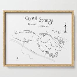Crystal Springs Belmont Cross-Country Course Map Serving Tray