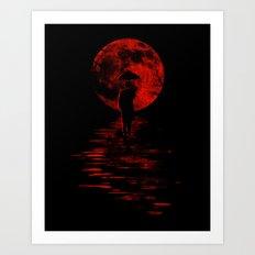 Rainman in Red Art Print