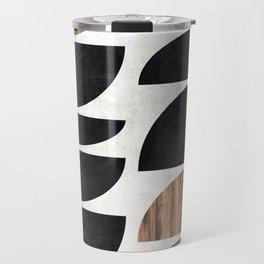 Mid-Century Modern Pattern No.7 - Concrete and Wood Travel Mug