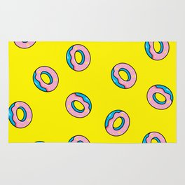 Donuts Yellow Rug