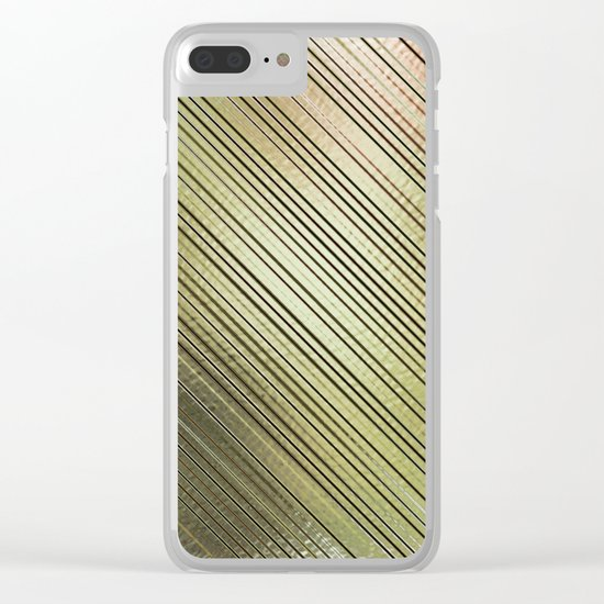 Golden Stripes Clear iPhone Case
