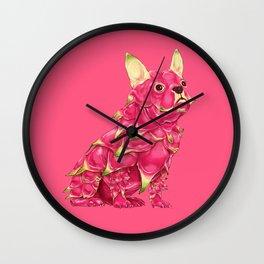 Dd - Dragon Dog // Half Dog, Half Dragon Fruit Wall Clock