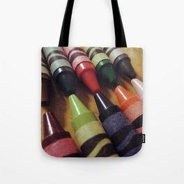 Crayon Closeup Tote Bag