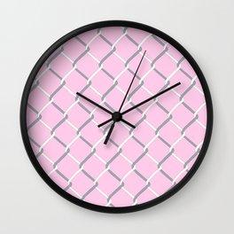 Chain Link on Blush Wall Clock