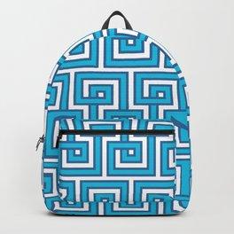 Greek Key - Turquoise Backpack
