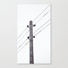 Old Utility pole Canvas Print