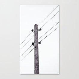 Old Utility pole Canvas Print