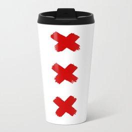 Amsterdam Crosses Metal Travel Mug