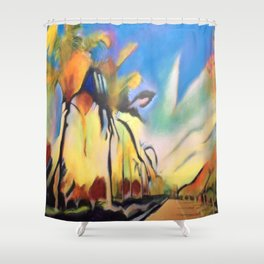 Palm Road Shower Curtain