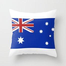 australia flag Throw Pillow