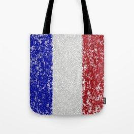 French Flag Splatter Painting Tote Bag