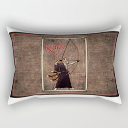 Kyudo: The Way of the Archer Rectangular Pillow