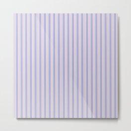 Geometrical lilac pink modern stripes pattern Metal Print