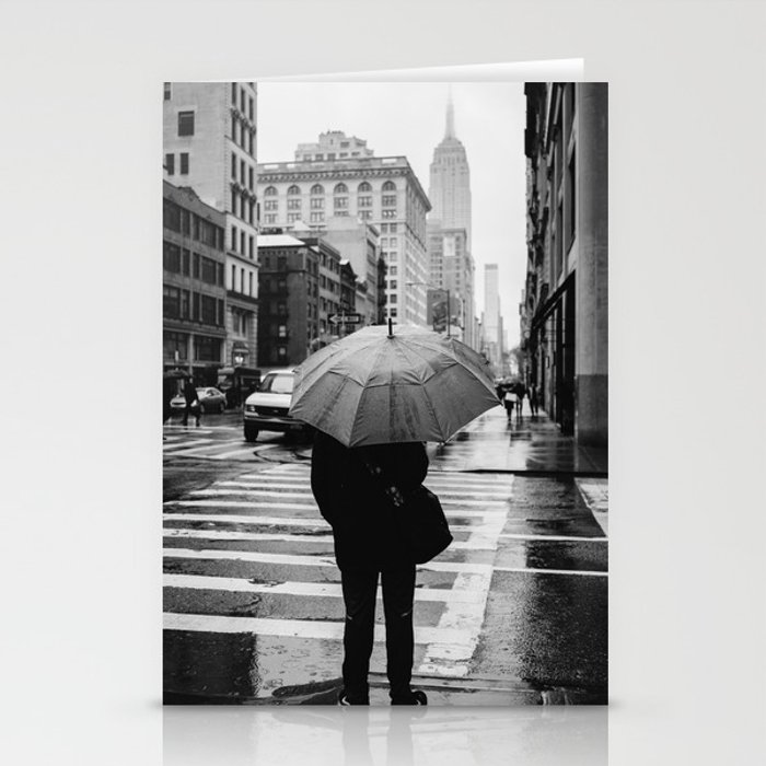 Rainy New York VIII Stationery Cards