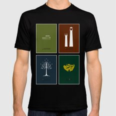 Lord of the Rings - Complete Minimalist Collection MEDIUM Black Mens Fitted Tee