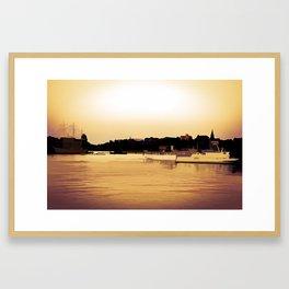 Golden beauty on water Framed Art Print