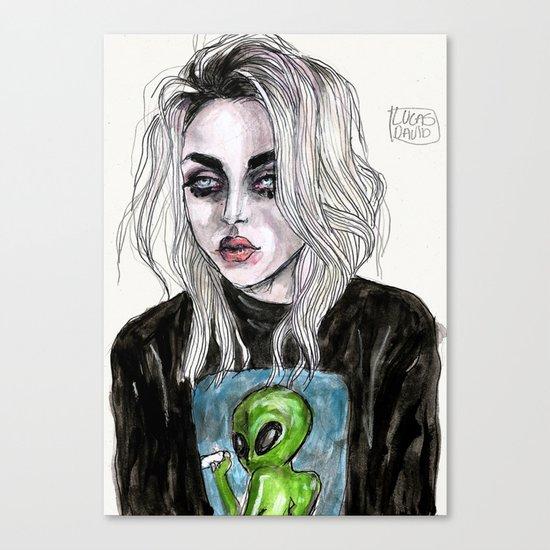 Frances bean cobain no,6 Canvas Print