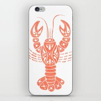 lobster iPhone & iPod Skins featuring Lobster by NoelleGobbi