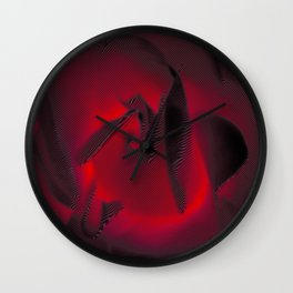 Red Hot Glow Wall Clock
