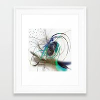 emerald Framed Art Prints featuring Emerald by haroulita