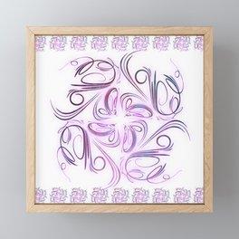 Lilac filigree Framed Mini Art Print