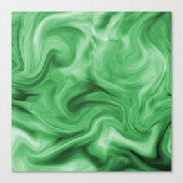 Emerald silk Canvas Print
