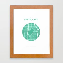 Green Lake, Seattle Framed Art Print