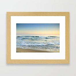 Serenity sea. Vintage Framed Art Print