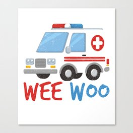 Paramedic  Ambulance Gift Canvas Print