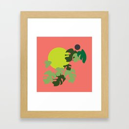 Retro jungle Framed Art Print