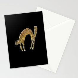Abstract Funny Cat Stationery Cards