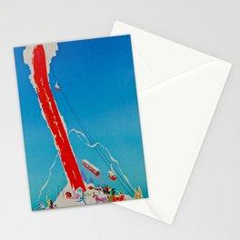 Davos Switzerland Ski Travel Stationery Cards