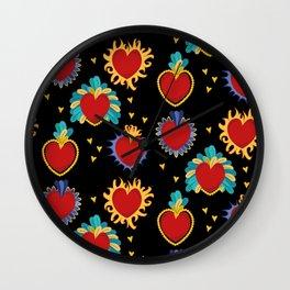 Frida's Hearts Wall Clock