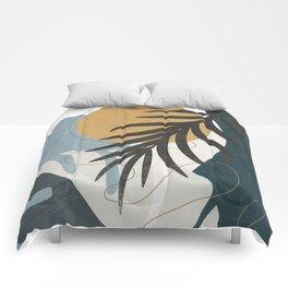 Abstract Tropical Art II Comforters
