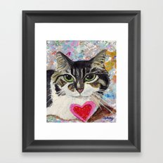 Fluffy Cat Framed Art Print