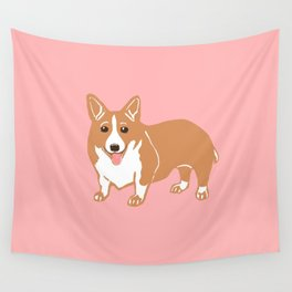 Pembroke Welsh Corgi Art Wall Tapestry