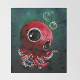 Mr Octopus Throw Blanket