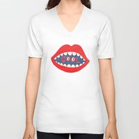 dentist V-neck T-shirts featuring COOL by Nick Nelson