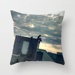 commence.  Throw Pillow