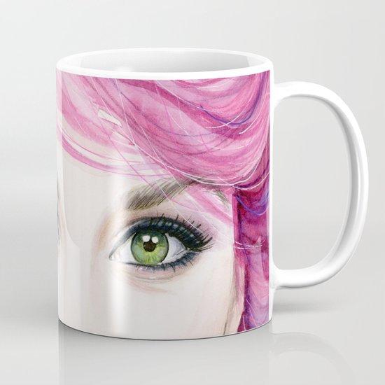Pink Hair Girl Mug