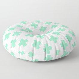Plus Signs (Mint & White Pattern) Floor Pillow