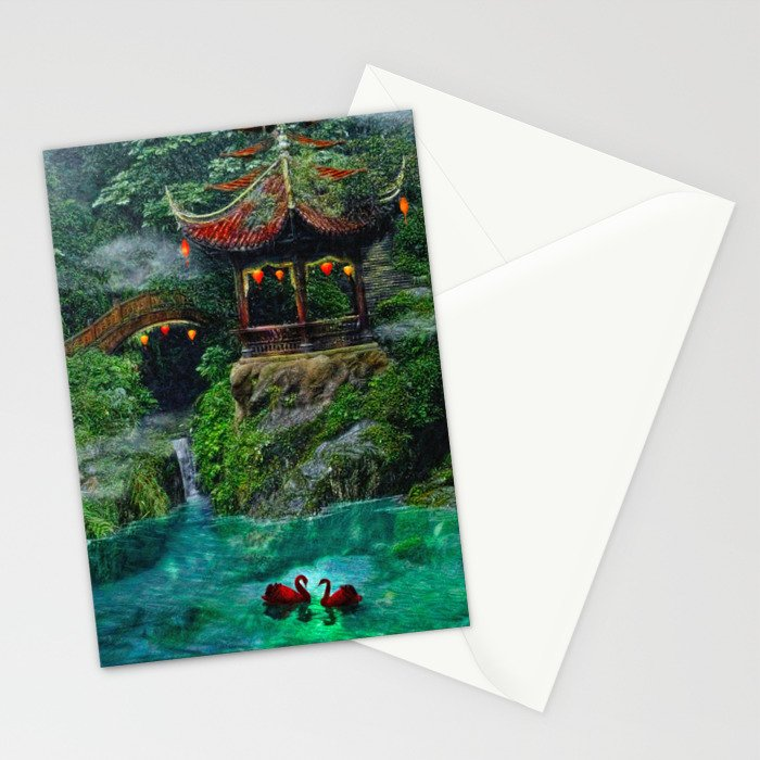 Tale of the Red Swans Stationery Cards