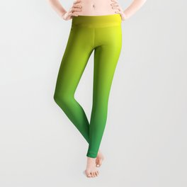 Meadowlark, Lime Punch, Arcadia Blurred Minimal Gradient | Pantone colors of the year 2018 Leggings