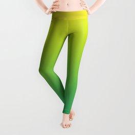 Meadowlark, Lime Punch, Arcadia Blurred Minimal Gradient   Pantone colors of the year 2018 Leggings